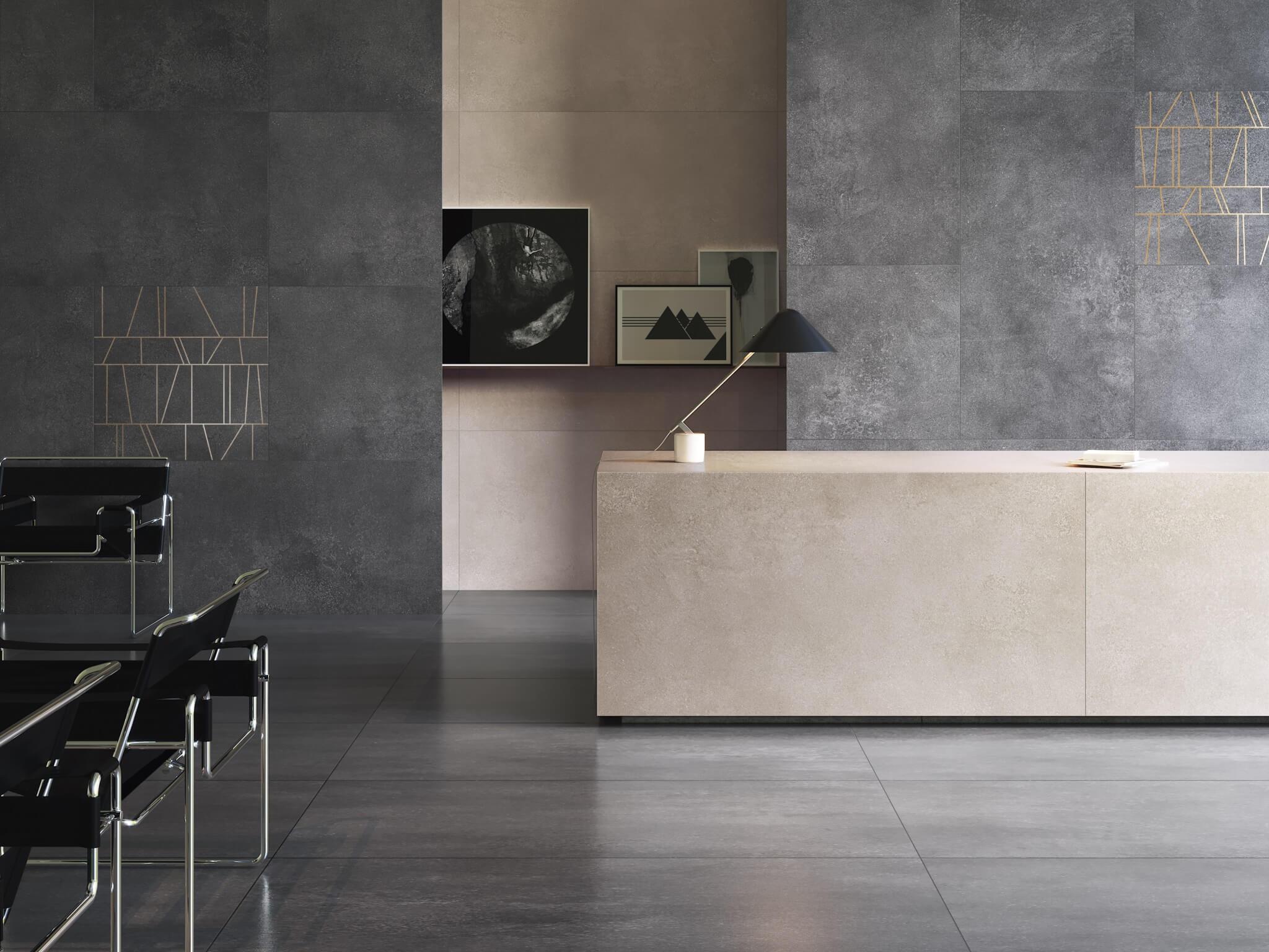 Керама бетон кварц виниловая плитка ceramo vinilam 61603 бетонная смесь